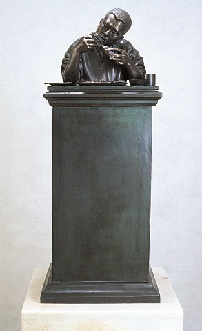 cannibalism sculpture by zhu yu