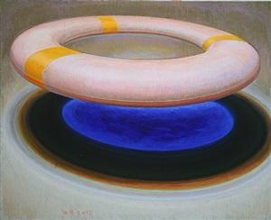 life buoy-blue by zhang hui