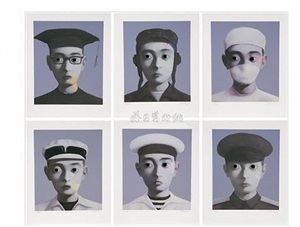 identity portrait portfolio by zhang xiaogang