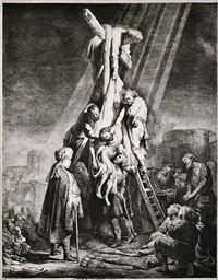 the descent from the cross: the second plate by rembrandt van rijn