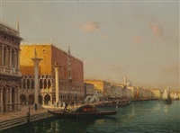 doges palace, grand canal by antoine bouvard