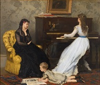 practicing by gustave léonhard de jonghe