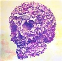 floral skull by jacky tsai