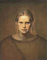 portrait of turid by odd nerdrum