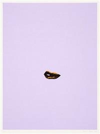 sneer (lilac) by gavin turk
