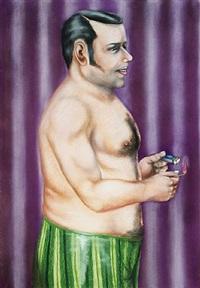 mann mit streichholz by hermann albert
