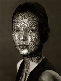 kate moss in torn veil by albert watson