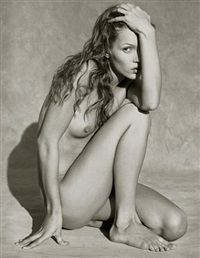 kate moss frontal nude iii by albert watson
