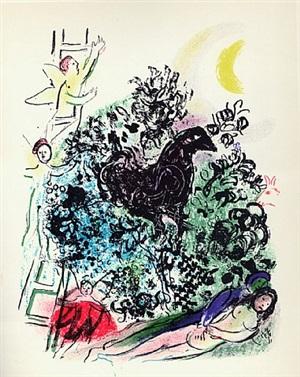 songe d'un amoureux (m 301) by marc chagall