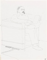 portrait of henry geldzahler by david hockney
