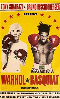 warhol vs basquiat- the exhibition by steve kaufman