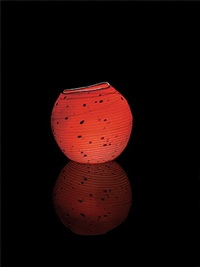 cinnabar basket studio edition #185.cw1b.13 by dale chihuly