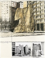 project for washington square village, new york by christo and jeanne-claude