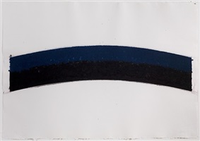 colored paper image iii (blue black curves) by ellsworth kelly