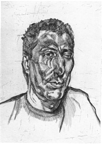 head of ali by lucian freud