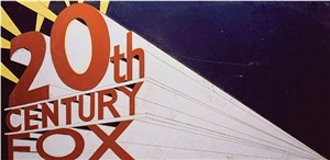 20th century fox, after ed ruscha (from pictures of cars) by vik muniz