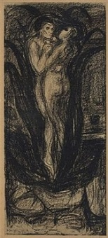 die blume der liebe (the flower of love, a plant) by edvard munch