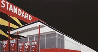 standard at night, after ed ruscha (from pictures of cars) by vik muniz