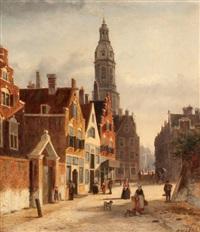 cityscape in amsterdam by john f. hulk