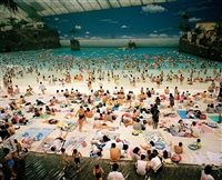 japan. miyazaki. the artificial beach inside the ocean dome. from 'small world'. 1996. by martin parr