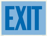 exit (blue) by olivier mosset