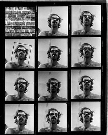 self portrait contact sheet by chuck close