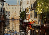 end of the canal, venice by chen yifei