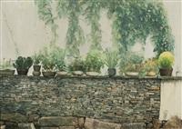 garden courtyard, suzhou china by chen yifei
