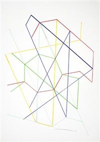 variation on a hexagon 14 by monir shahroudy farmanfarmaian