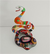 serpent and egg by niki de saint phalle