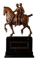 caballo con jinetes by jorge marín