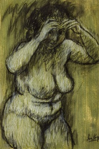 female nude by leon karp