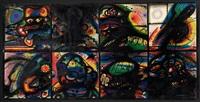 acht masken by arnulf rainer