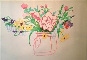 wildflower bouquet by tom wesselmann