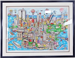 the world loves nyc 3-d by charles fazzino