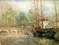 paysage de printemps a lavardin, loir-et-cher by maxime maufra