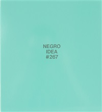 negro idea #267 by william pope.l
