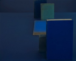 diebenkorn blues, from the series blue books by mary ellen bartley