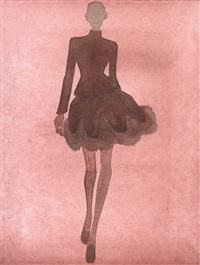 alaia illustration #2 (red look) by mats gustafson