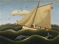 birds, dolphins and sailors by ramiro fernández saus