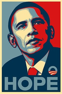 obama hope by shepard fairey