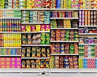 hiding in the city- puffed food by liu bolin