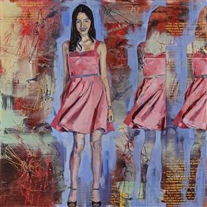 pink dress by douglas schneider