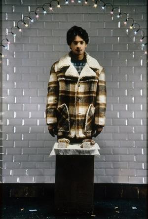 le vendeur du métro (modèle : sanjay) by pierre et gilles
