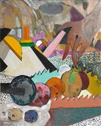 memphis living (picking from a still life) by hernan bas