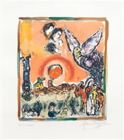 composition champetre, paris, december 1965 by marc chagall