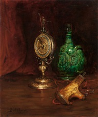 still life with antiques by joseph bail