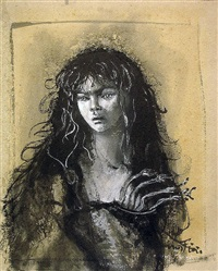 medea or femme aux serpents by leonor fini
