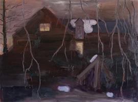 my studio on a winter night by per adolfsen