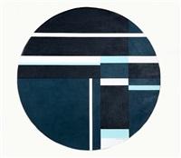 blue tondo by ilya bolotowsky